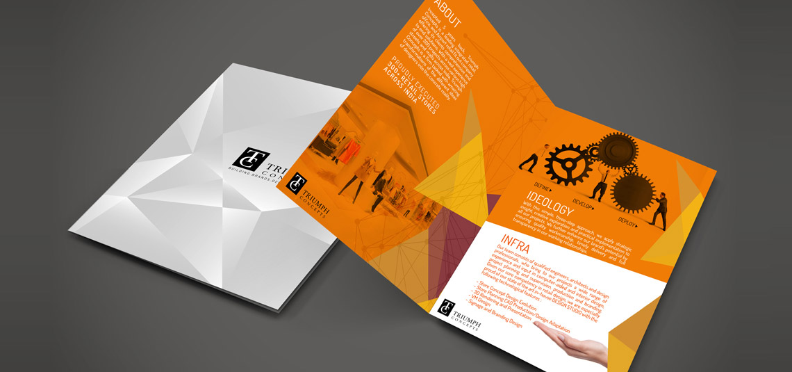 bi fold brochure design company two fold brochure maker