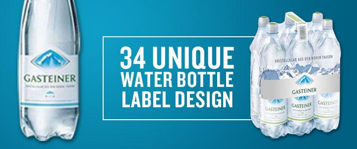 34 unique water bottle label design designerpeople. Black Bedroom Furniture Sets. Home Design Ideas