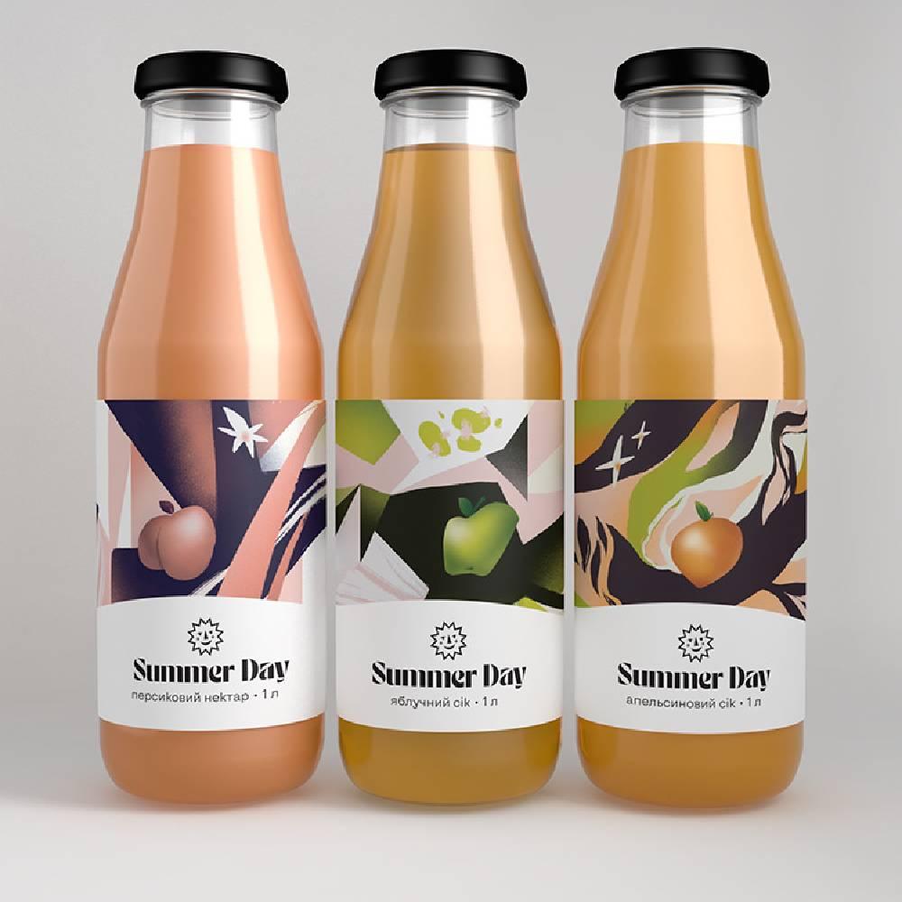 creative illustration label design